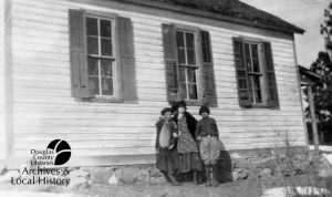 Photo of students and Indian Park School