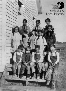 Photo of students and Spring Valley School