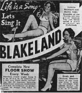 Advertisement for Blakeland