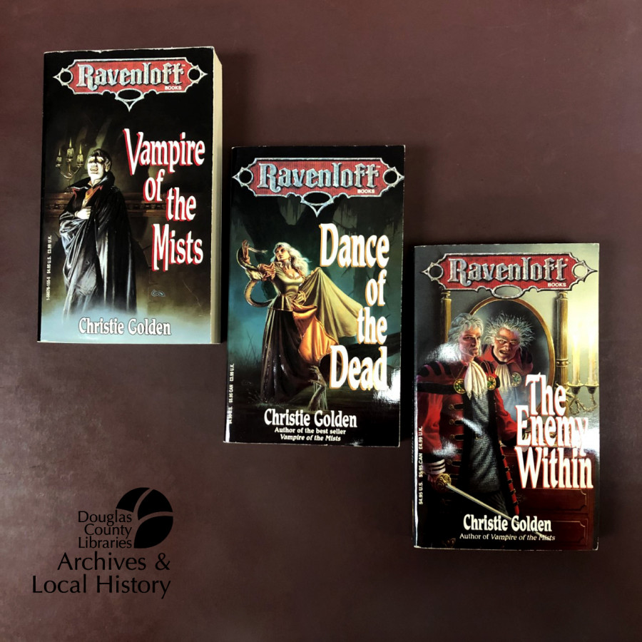 Image shows three books from the Ravenloft series. The books won the Archives Award for Spookiest.